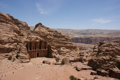 The famous Monastery in Petra