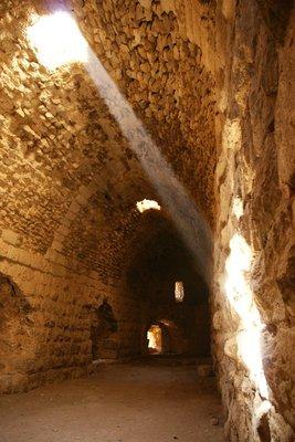 Impressive arched hallway at the Karak castle