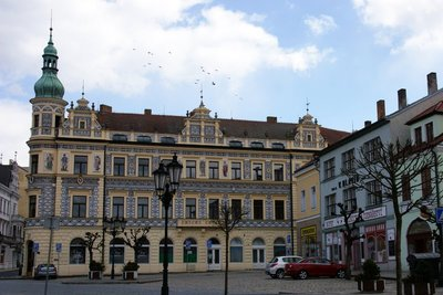 Historical building in the south Bohemian town of Pisek