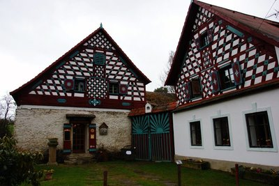 Half-timber houses in the Rural Monument Reserve Doubrava, Cheb region in the Czech Republic