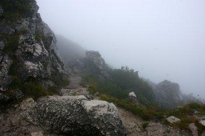 Walking routes around Kehlsteinhaus covered in fog