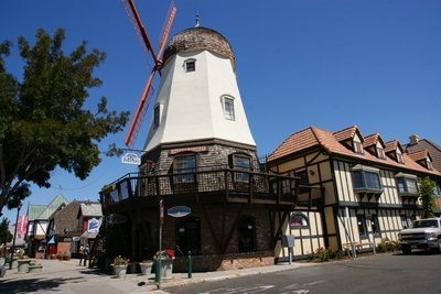 Windmill in Solvang, California, US