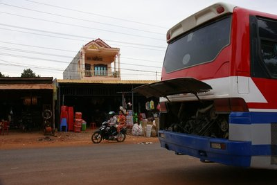 Bus number one with engine issues