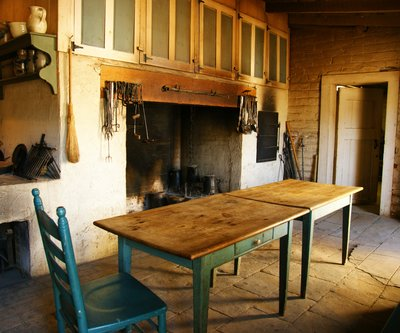 Kitchen at the Sutter's Fort in Sacramento, California