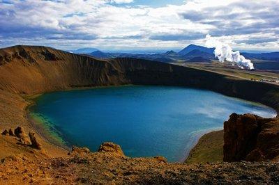 Vulcanic Lake Viti in Iceland