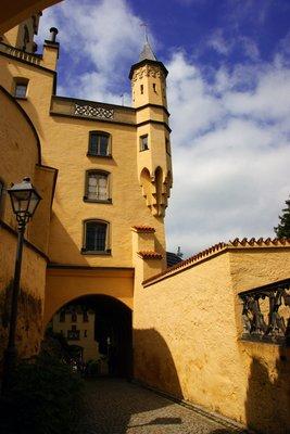 Entering the Hohen Schwangau Castle, Germany