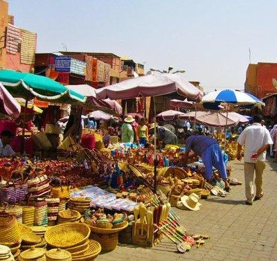 Soukes in Marrakesch, Morocco