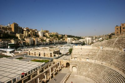 Roman amphitheatre set into the hills of Amman