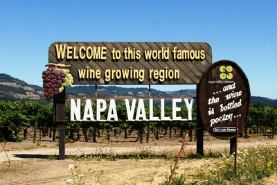 The World famous Napa Valley sign, California