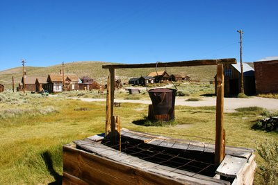 Old water well in Bodie, California