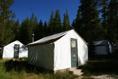 Our tent at the Tuolumne Meadows Lodge at Yosemite Park