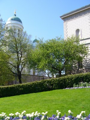 View of the Helsinki Cathedral from the back