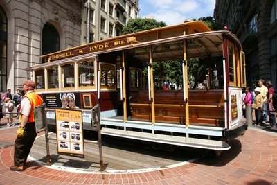 Powell / Market Street cable car turning point, San Francisco