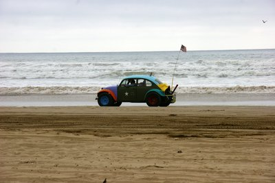 One of the many tuned cars roaming the Pismo Beach, California, US