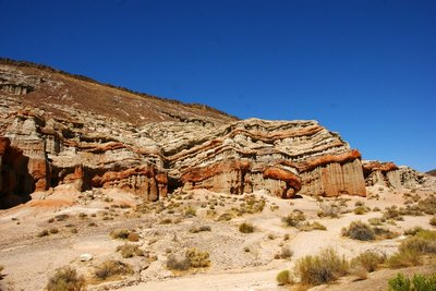 Typical red rock formations in the Red Rock Canyon, California, US