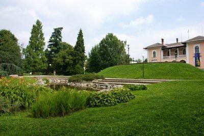 Park 'Sady 1. Maje' in Šumperk, Czech Republic