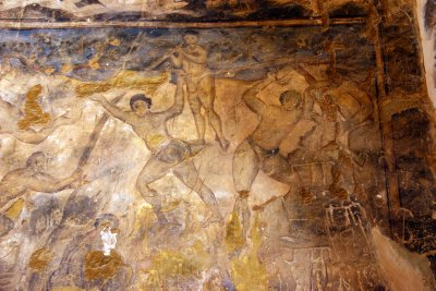 Baths in Qusair Amra decorated by frescoes with nude women