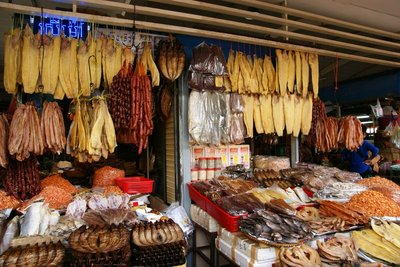 Dried fish stall at the Russian Market