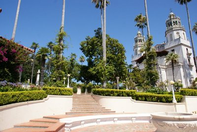 The beautifully maintained grounds of the Hearst Castle, California, US