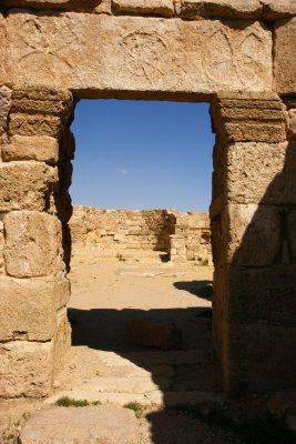 Preserved doorway in Umm Al-Rassas