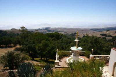 Stunning views from top of the San Simeon hill - one of the favorite parts of WR Hearst about the area, California, US