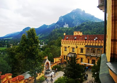 View from the Hohen Schwangau castle window