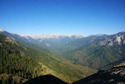 View north-eastwards from the Moro Rock, Sequoia NP, California, US