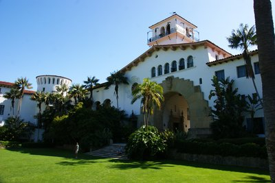 The County Courthouse in Santa Barbara, California, US