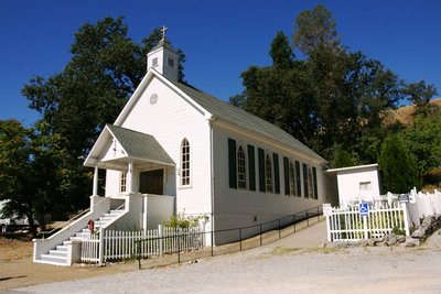 Little white church in Volcano, California