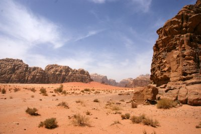 View over Wadi Rum from our lunch-break spot