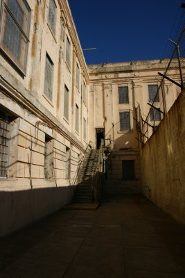 Way out to the exercising yard, Alcatraz