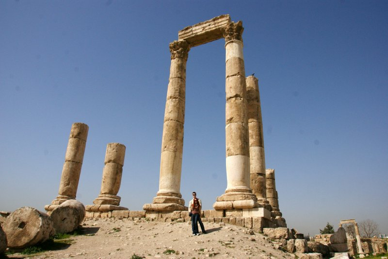 Hercules&#39; Temple at the Amman Citadel Hill