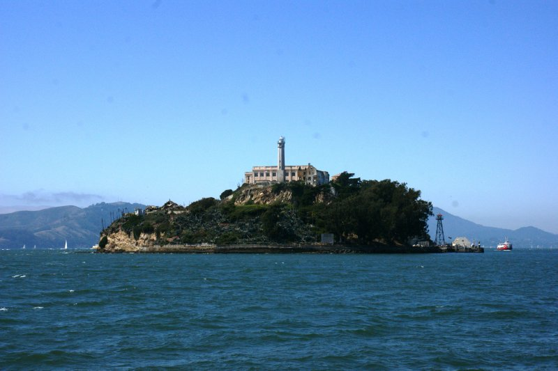 Getting closer to Alcatraz on our trip ship, San Francisco