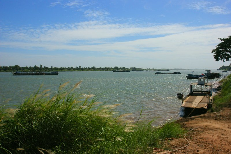 Ferry port at the Mekong River