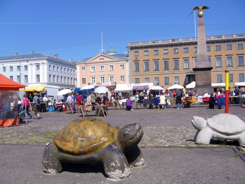 The market place in Helsinki