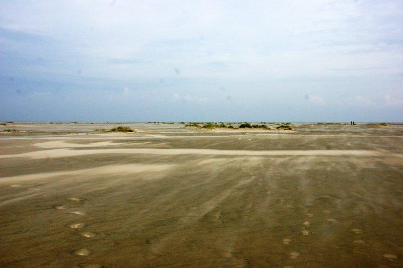 Moving sands of the Borkum beaches