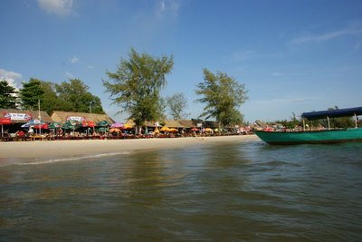 The Sihanoukville beach