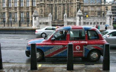 Un fameux taxi londonien!