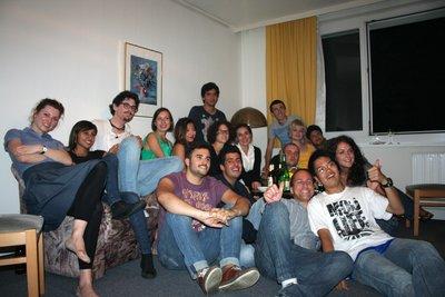 Étudiants présents lors du souper de Louise et Myriam.