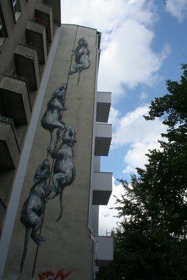 Nos amis les rats. Berlin regorge de magniques graffitis!