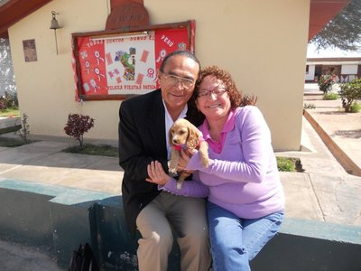 Alfonso and Yolanda with the Puppy!