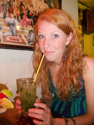Nyree with her Mojito. Yum!
