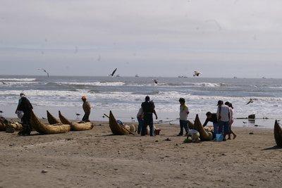 Peruvian Fishing Canoes.