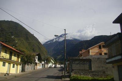 The Tungurahua Volcano at Baños.