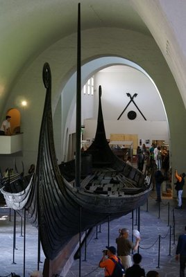 Viking ship inside Viking museum