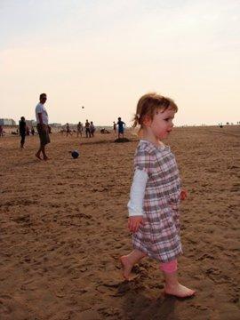 Malia on beach