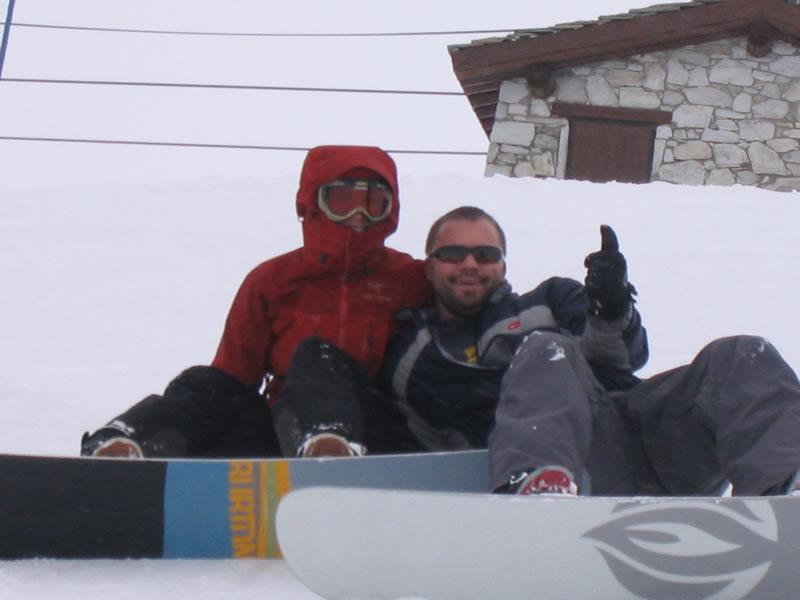 Snowboarding rookies