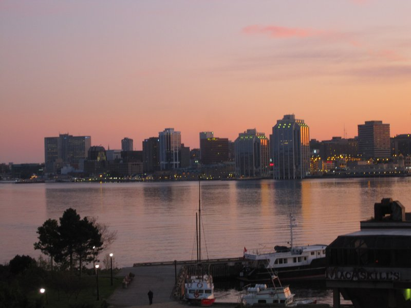 Halifax city sunset