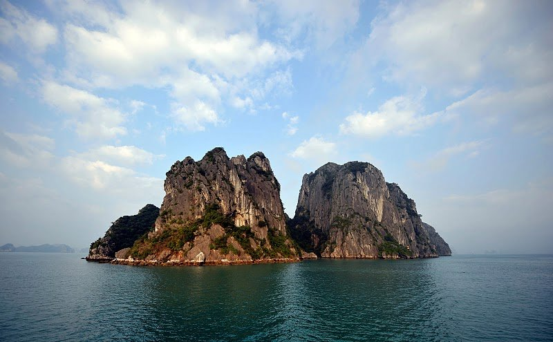 Limestone islet in Halong Bay
