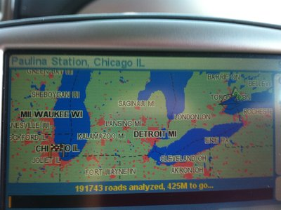 Map from Toronto to Chicago